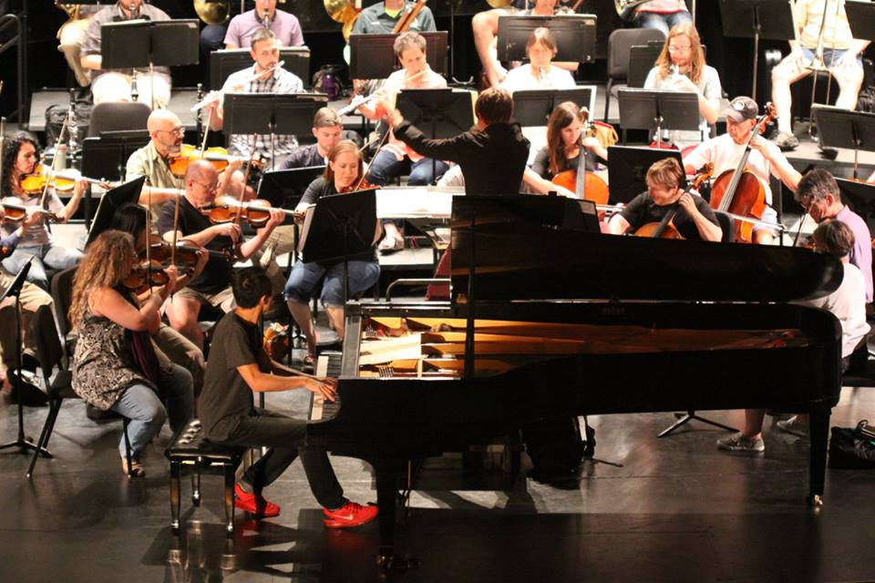 The North State Symphony rehearsing with soloist Alpin Hong